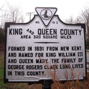 King and Queen County (obverse)